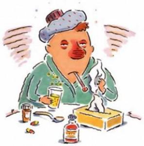 Rød hævet næse sygdom forkølelse billede